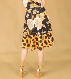 Mr. Gugu & Miss Go, Panther without spikes flared skirt Miniatura $i