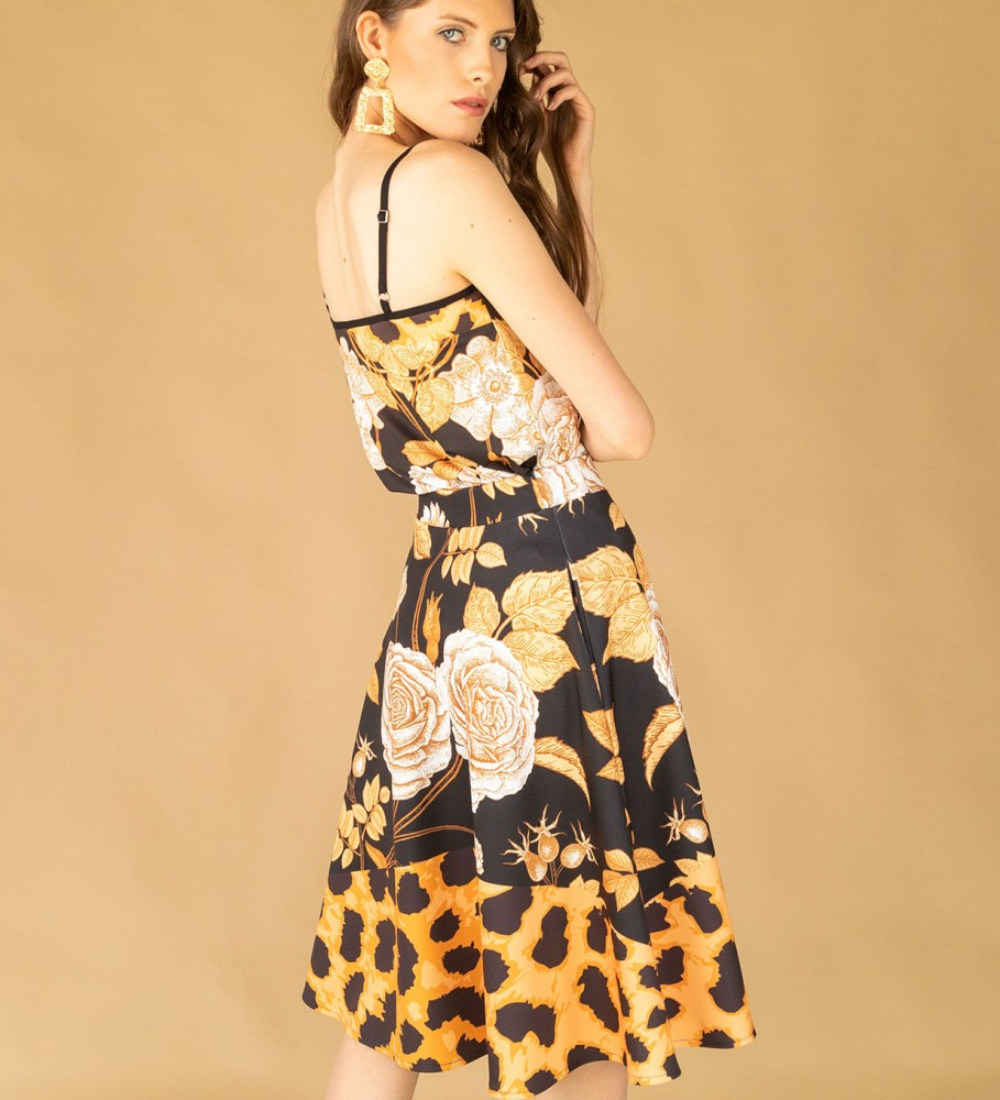 Mr. Gugu & Miss Go, Panther without spikes flared skirt Imagen $i