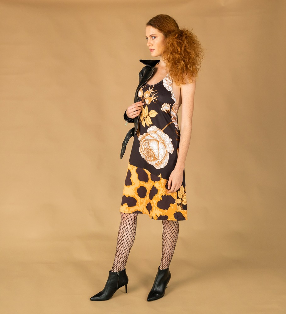 Mr. Gugu & Miss Go, Panther without spikes tied dress Image $i