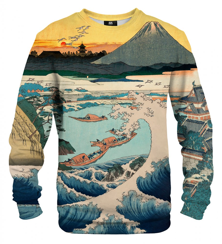 Mr. Gugu & Miss Go, Sunset over Mount Fuji from Satta Point sweater Image $i