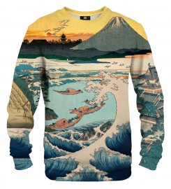 Mr. Gugu & Miss Go, Sunset over Mount Fuji from Satta Point sweater Thumbnail $i