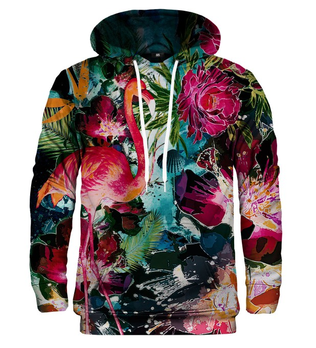 Colorful Flamingo hoodie Thumbnail 1