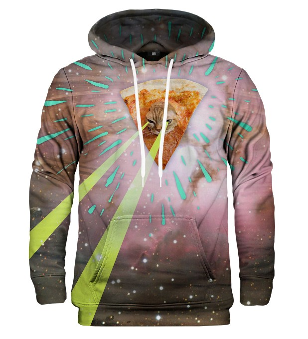Super Pizza Laser Cat hoodie Miniature 2