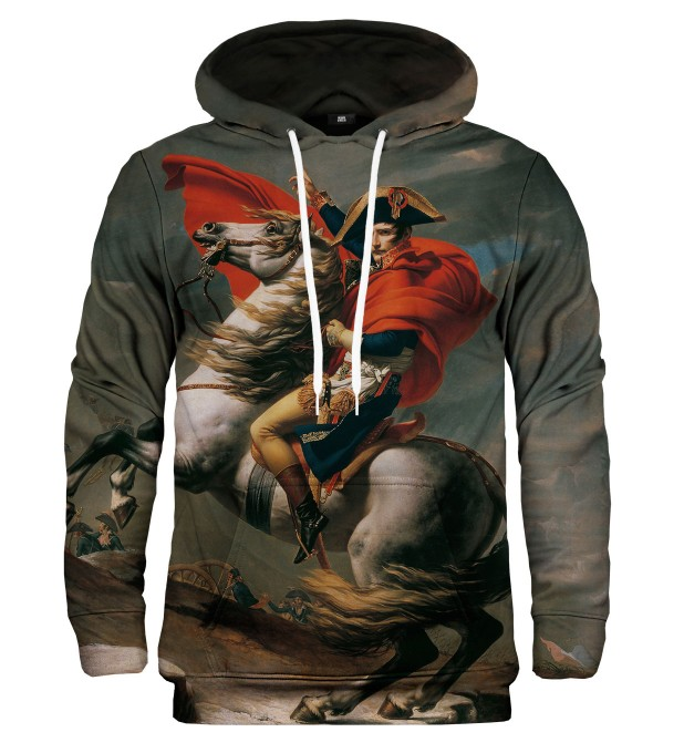 Napoleon Crossing the Alps hoodie Miniatura 1
