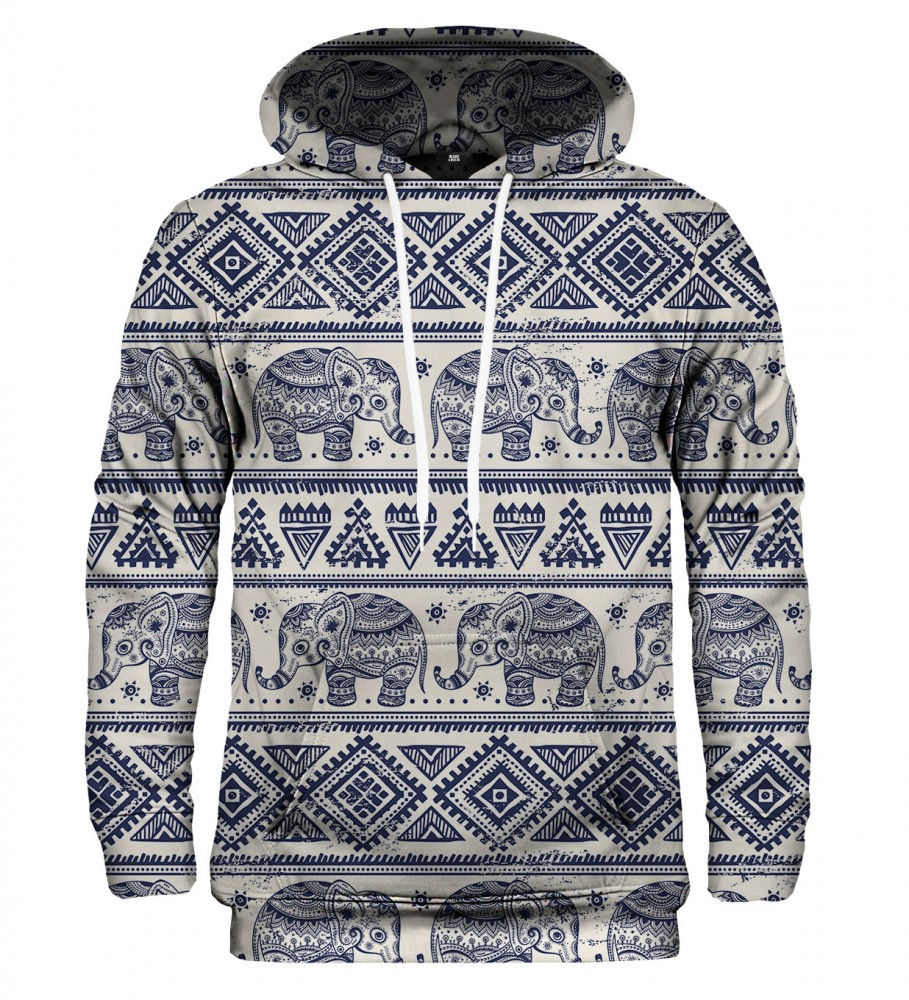 Mr. Gugu & Miss Go, Elephants Pattern hoodie  Immagine $i