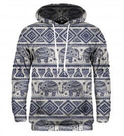 Mr. Gugu & Miss Go, Elephants Pattern hoodie  Miniature $i