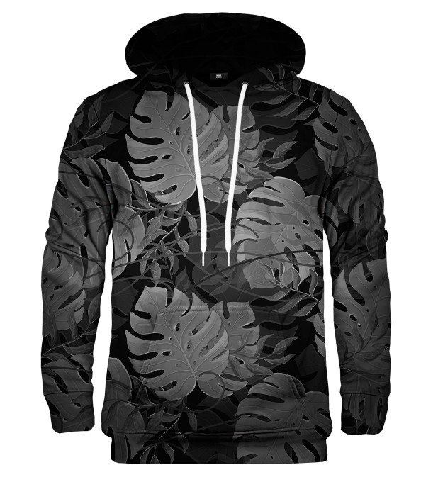 Monstera Black hoodie Thumbnail 1