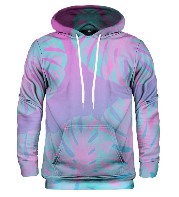 Monstera Leaves Pink hoodie Thumbnail 1