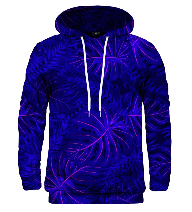 Tropical Dark Blue hoodie Miniature 2