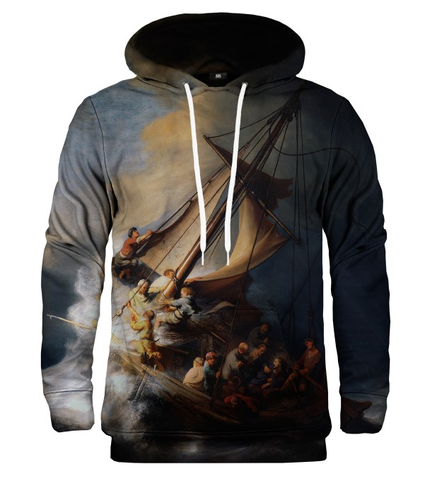 Christ in the Storm on the Lake of Galilee hoodie Miniature 1