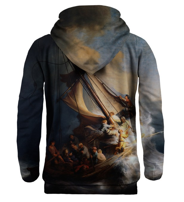 Christ in the Storm on the Lake of Galilee hoodie Miniature 2