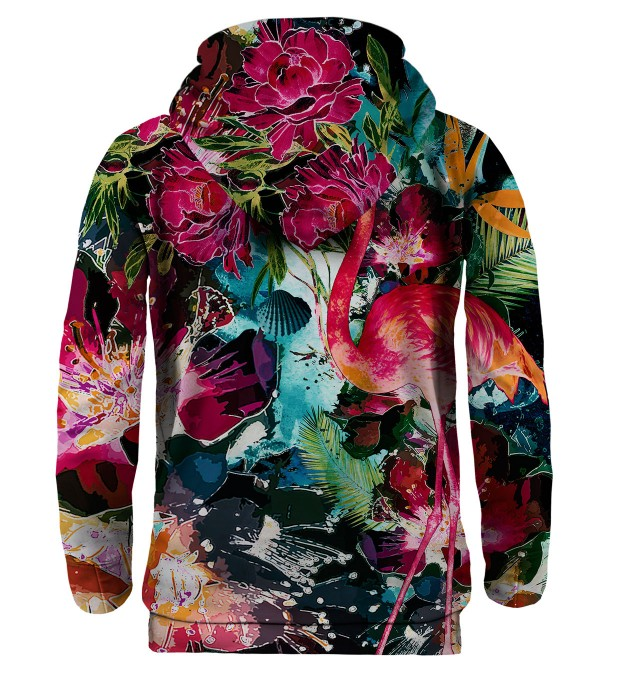 Colorful Flamingo hoodie Miniature 2