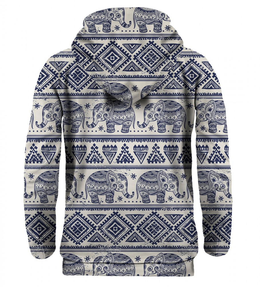Mr. Gugu & Miss Go, Elephants Pattern hoodie  Image $i