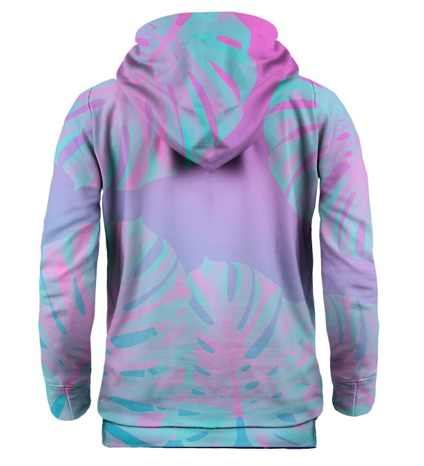 Monstera Leaves Pink hoodie Thumbnail 2