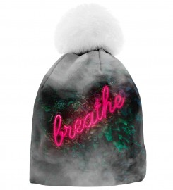 Mr. Gugu & Miss Go, Breathe womens beanie Thumbnail $i