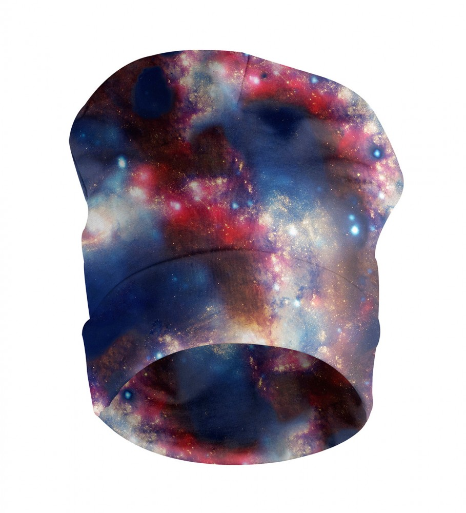 Mr. Gugu & Miss Go, Red Blue Nebula beanie Image $i