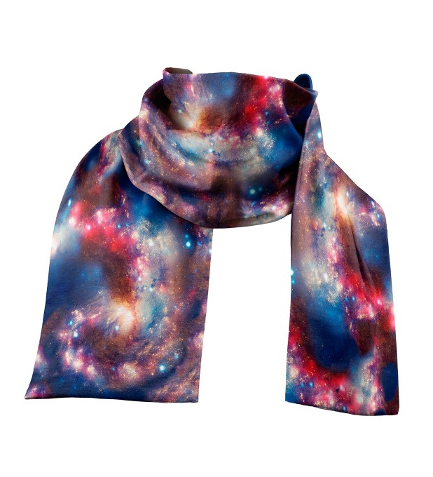 Red Blue Nebula scarf Thumbnail 1