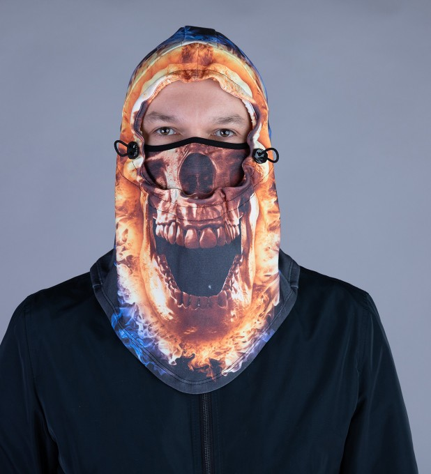 Fire Skull Face balaclava Miniature 2