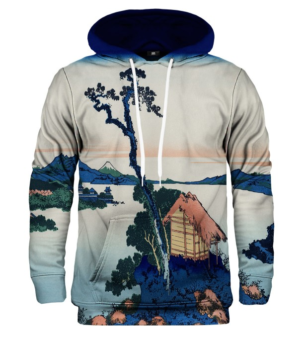 Lake Suwa in Shinano province hoodie Miniature 2