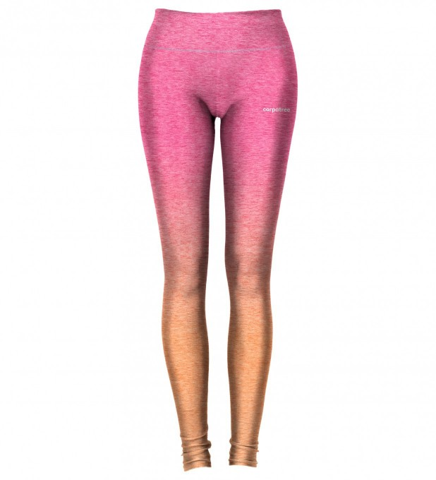 Pink Orange Ombre leggings Miniature 2