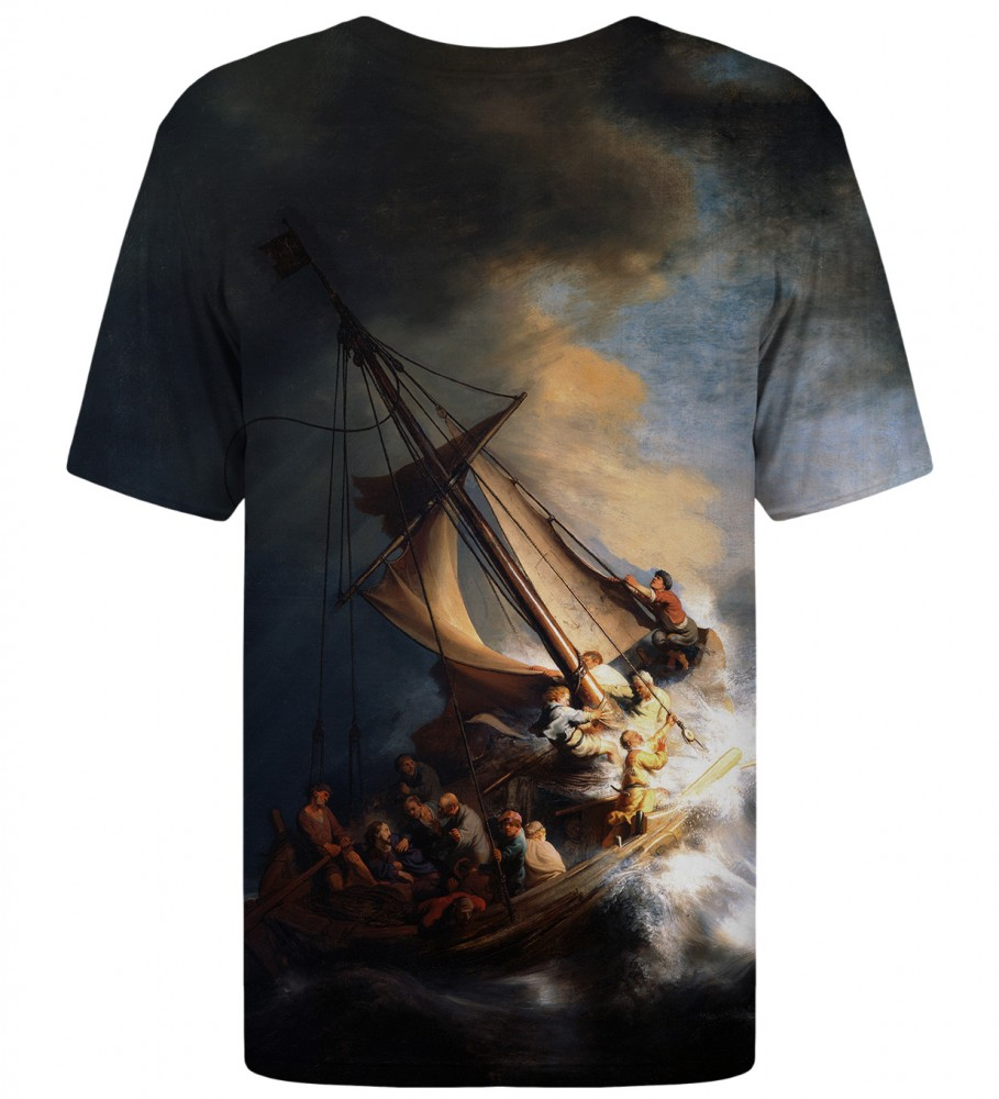 Mr. Gugu & Miss Go, Christ in the Storm on the Lake of Galilee t-shirt Image $i