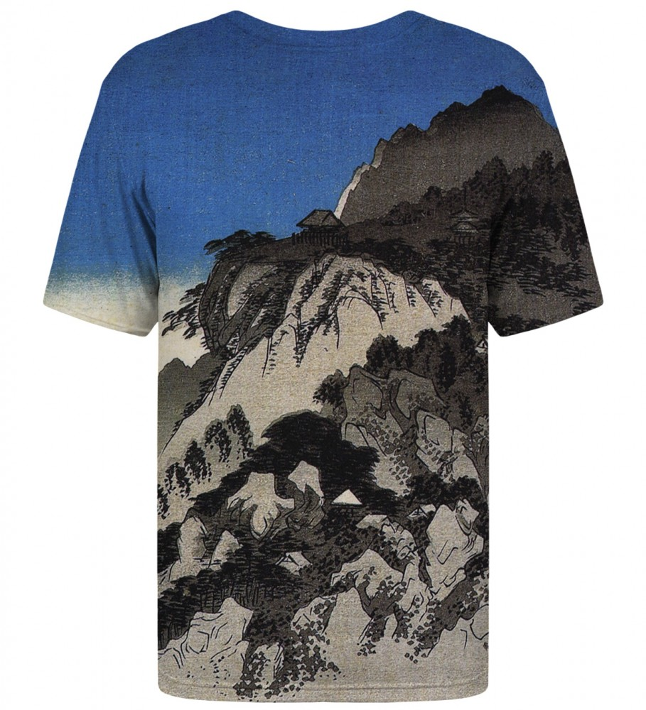 Mr. Gugu & Miss Go, Full moon over a mountain landscape t-shirt Image $i