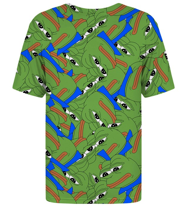 Pepe the frog pattern t-shirt Thumbnail 2