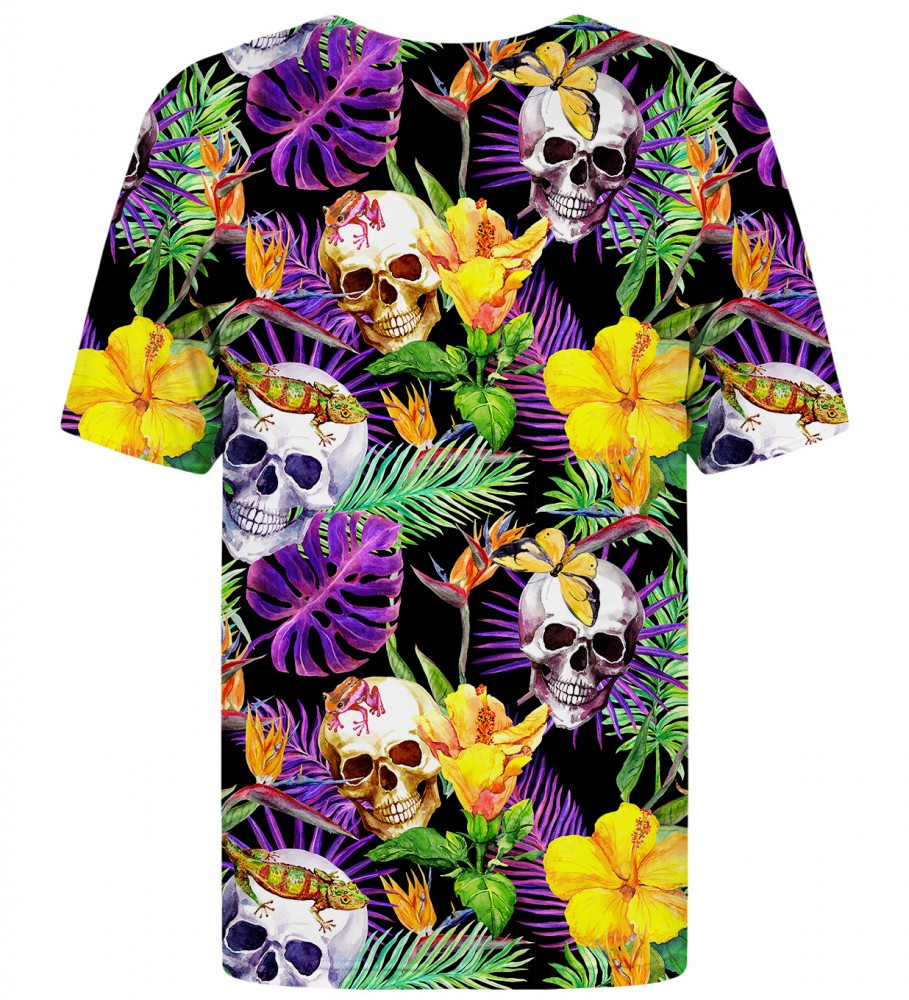 Mr. Gugu & Miss Go, Skulls in Flowers t-shirt Image $i