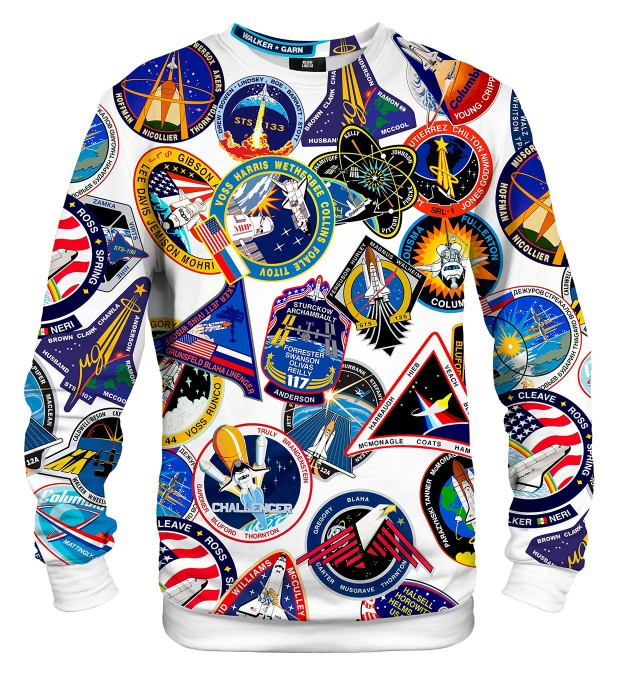 Nasa Stickers sweater Thumbnail 1
