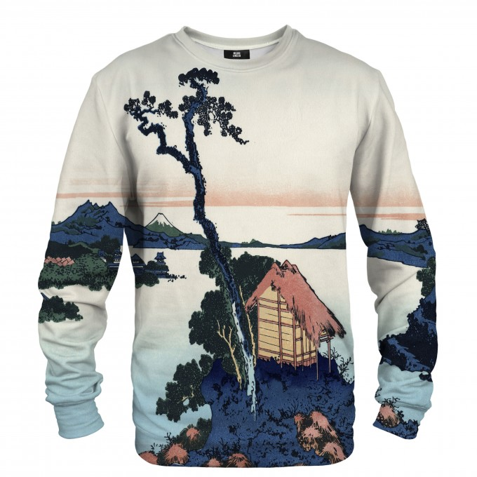 Lake Suwa in Shinano province sweater Thumbnail 1