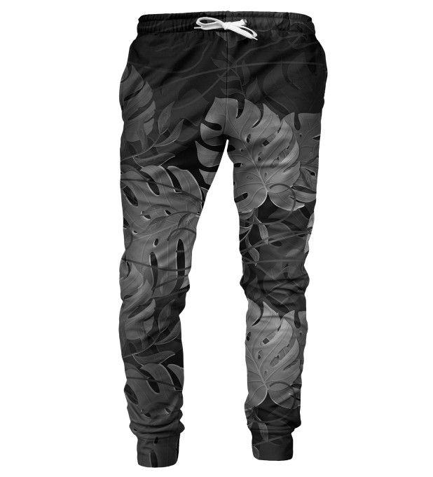 Monstera Black mens sweatpants Miniature 2