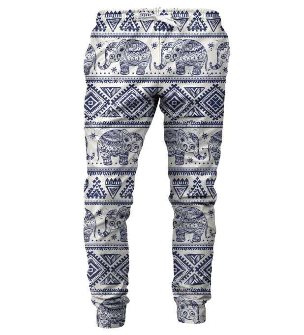 Elephants Pattern mens sweatpants Miniature 1