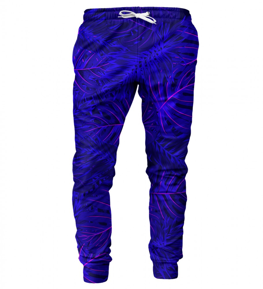 Mr. Gugu & Miss Go, Tropical Dark Blue mens sweatpants Imagen $i