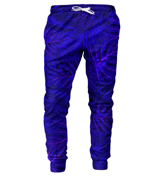 Tropical Dark Blue mens sweatpants Miniature 1