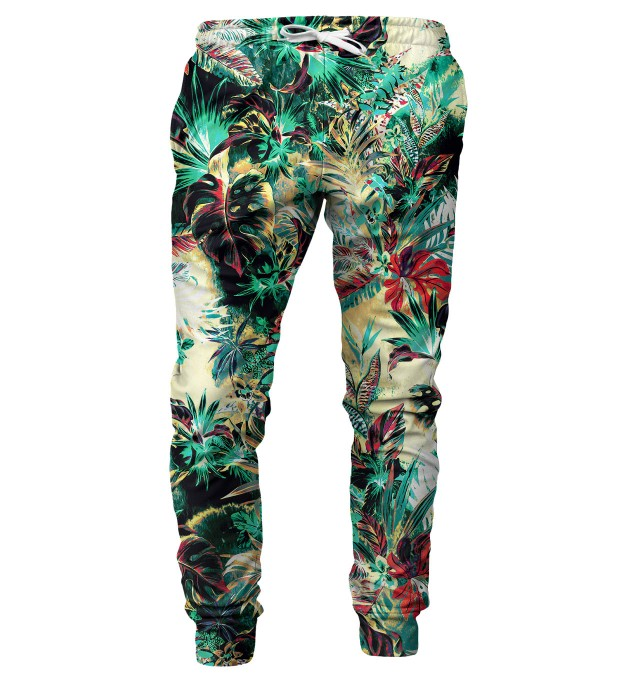 Tropical Jungle mens sweatpants Miniature 1