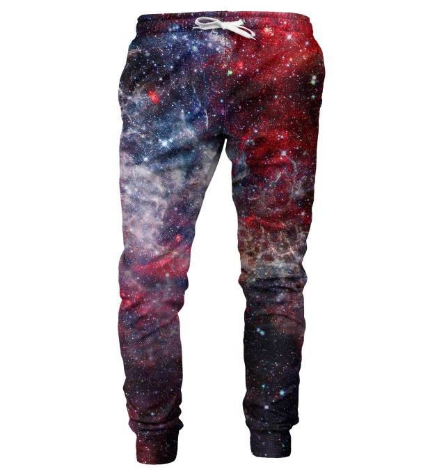 Deep Red Nebula mens sweatpants Miniature 1