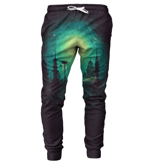Futuristic City mens sweatpants Miniatura 1