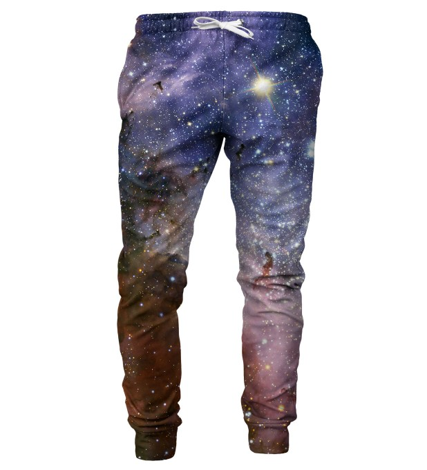Violet Nebula mens sweatpants Miniature 1