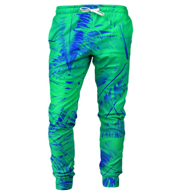 Tropical Green mens sweatpants Thumbnail 1