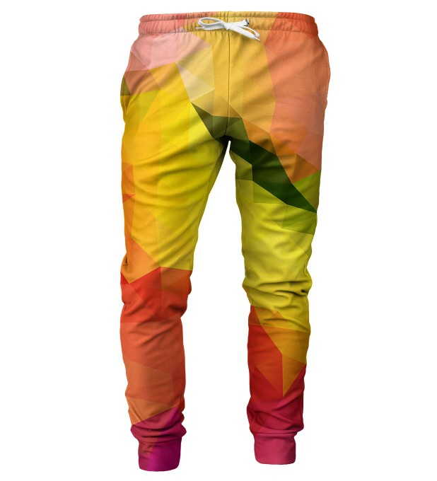 Colorful geometric pattern mens sweatpants Thumbnail 1