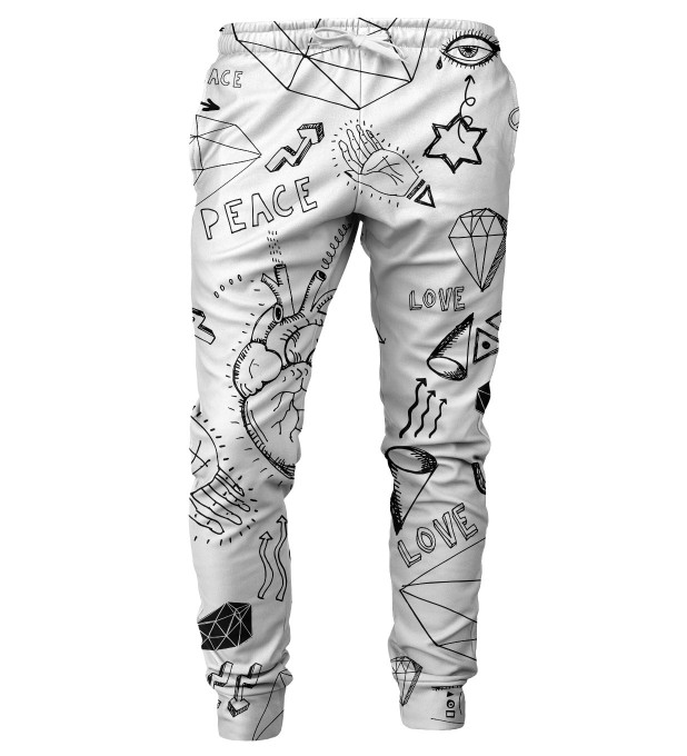 Love icons mens sweatpants Thumbnail 1