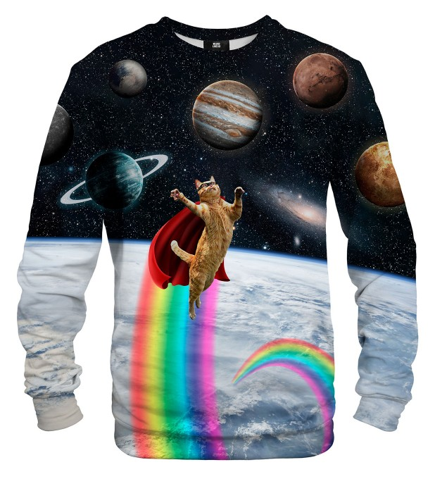 Bluza ze wzorem Super Cat in Space Miniatury 1