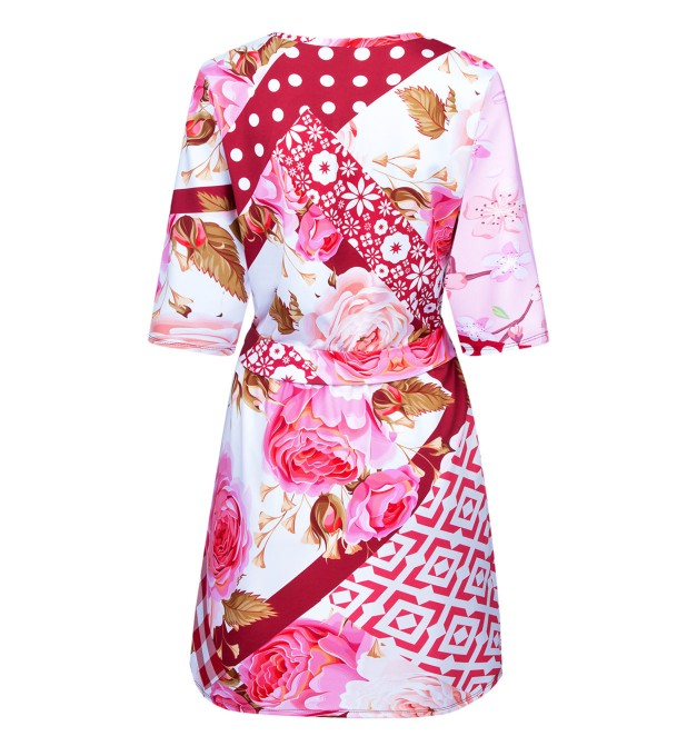 Red grandma oilcloth envelope dress аватар 2