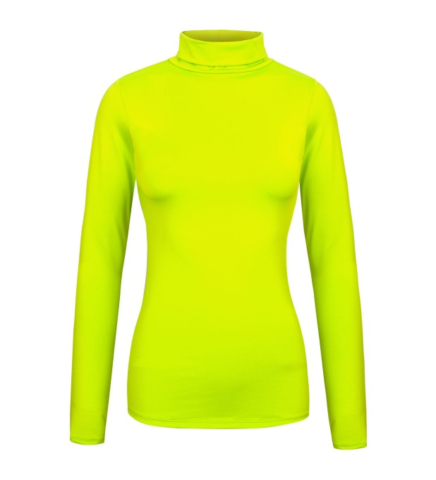 Fluo green turtleneck Thumbnail 1