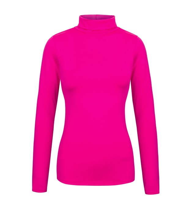 Fluo pink turtleneck Miniature 1