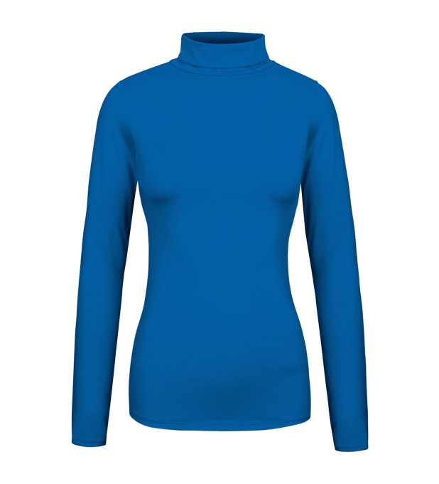 Pastel cobalt turtleneck Miniature 1