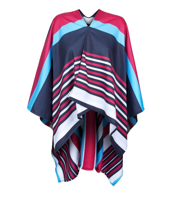 Stripes here stripes there poncho Miniature 1
