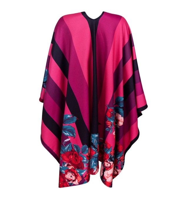 Violet-pink wallpaper poncho Miniature 2