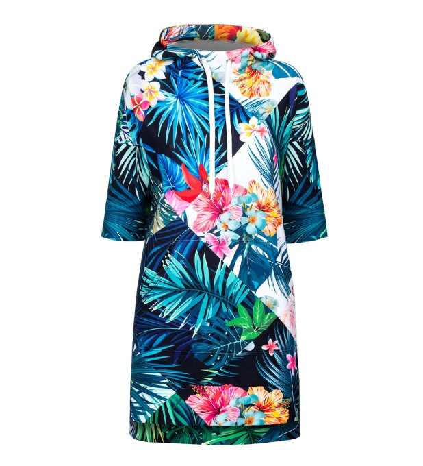 Flowers Jungle hoodie dress Miniaturbild 2