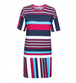 Mr. Gugu & Miss Go, Stripes here stripes there short sleeve dress Miniature $i